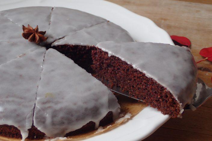 Bezlepkový čokoládový koláč s perníkovým korením