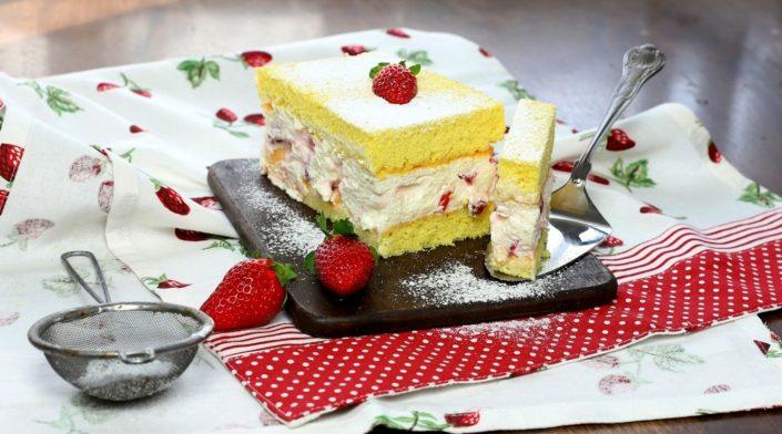 Bezlepkový piškótový koláč